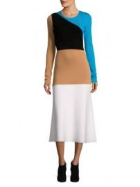 Diane von furstenberg colorblock midi dress at Saks Off 5th