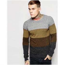 Diesel Crew Knit Sweater K-Calib-A Block Stripe Marl at Asos