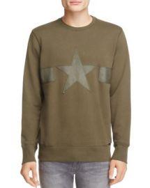 Diesel Leather Trim Star Sweatshirt at Bloomingdales