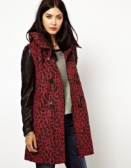 Diesel animal print coat at Asos
