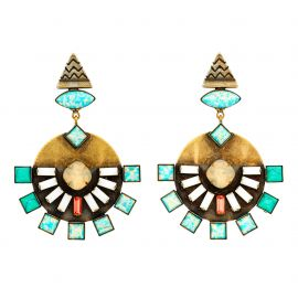 Dillen Earrings in Turquoise at Lionette NY