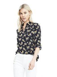 Dillon-Fit Long-Sleeve Floral Print Blouse at Banana Republic
