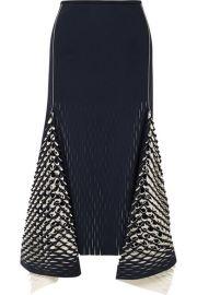 Dion Lee   Asymmetric cutout neoprene midi skirt at Net A Porter