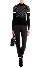 Dip Dye Leopard Sweater at Karen Millen