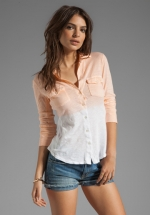 Dip dyed shirt by James Perse at Revolve