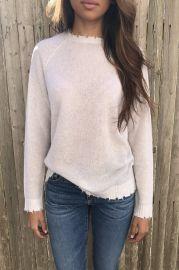 Distressed Cashmere Sweater by Minnie Rose at Gloria Jewel