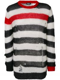 Distressed Striped Sweater by Diesel at Farfetch