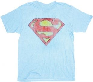 Distressed Superman Logo Tshirt at TV Store Online