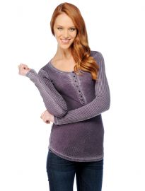 Distressed Thermal Henley at Splendid