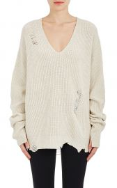 Distressed Wool-Cashmere Oversized Sweater at Barneys