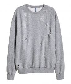 Distressed sweatshirt at H&M