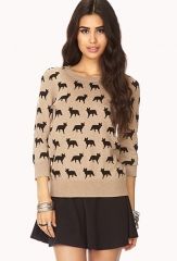 Ditsy Fox Sweater at Forever 21