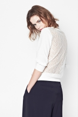 Ditton Lace Sweater at French Connection
