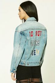 Do Not Disturb Me Denim Jacket by Forever 21 at Forever 21