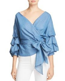 Do and Be Chambray Wrap Top at Bloomingdales