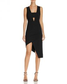 Do and Be Cutout Asymmetric Midi Dress black at Bloomingdales
