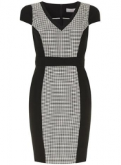 Dogstooth pencil dress at Dorothy Perkins