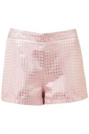 Dogtooth jacquard shorts at Topshop