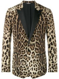 Dolce  amp  Gabbana Leopard Print Double Breasted Blazer at Farfetch