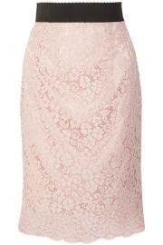 Dolce   Gabbana   Corded cotton-blend lace midi skirt at Net A Porter