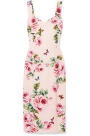 Dolce   Gabbana   Floral-print cady midi dress at Net A Porter