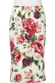 Dolce   Gabbana   Floral-print cady midi skirt at Net A Porter