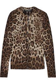 Dolce   Gabbana   Leopard-print cashmere and silk-blend cardigan at Net A Porter