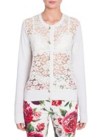 Dolce   Gabbana - Long Sleeve Lace Front Cardigan at Saks Fifth Avenue