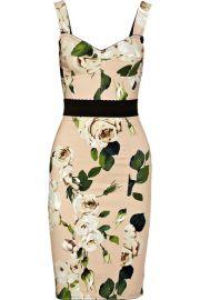 Dolce   Gabbana   Rose-print crepe bustier dress at Net A Porter