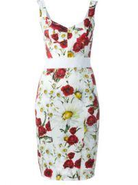 Dolce  amp  Gabbana Daisy And Poppy Pint Dress at Farfetch