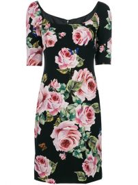 Dolce  amp  Gabbana Fitted Rose Dress  2 075 - Buy SS18 Online - Fast Global Delivery  Price at Farfetch