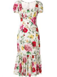 Dolce  amp  Gabbana Floral Print Midi Dress at Farfetch