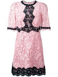 Dolce  amp  Gabbana Lace Dress at Farfetch