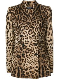 Dolce  amp  Gabbana Leopard Print Double Breasted Blazer  3 500 - Buy SS18 Online - Fast Global Delivery  Price at Farfetch