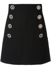 Dolce  amp  Gabbana Nautical Button Skirt at Farfetch