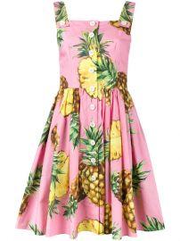 Dolce  amp  Gabbana Pineapple Print Dress at Farfetch