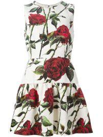 Dolce  amp  Gabbana Rose Print Brocade Dress at Farfetch
