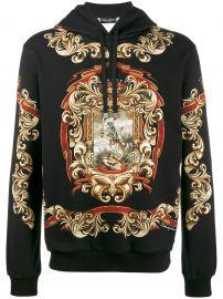 Dolce Gabbana Blazon printed hoodie at Farfetch