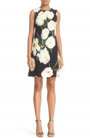 Dolce Gabbana Tulip Print Wool Shift Dress at Nordstrom