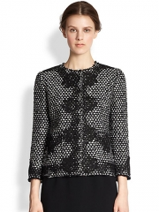 Dolce and Gabbana - Lace-Appliqud Tweed Jacket at Saks Fifth Avenue