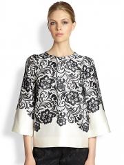 Dolce and Gabbana - Lace Print Duchess Satin Shirt at Saks Fifth Avenue