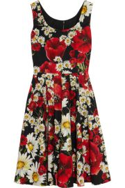 Dolce and Gabbana  Floral-print cotton-poplin dress at Net A Porter