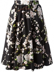 Dolce and Gabbana Pleated Floral Skirt - Verso at Farfetch