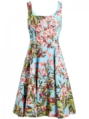 Dolce andamp Gabbana Embellished Floral Jacquard Dress - at Farfetch