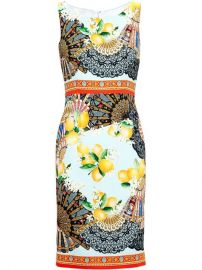 Dolce andamp Gabbana Lemon Print Sleeveless Dress - Browns at Farfetch