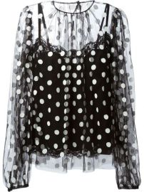 Dolce andamp Gabbana Polka Dot Blouse - at Farfetch