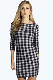 Dolly gingham dress at Boohoo