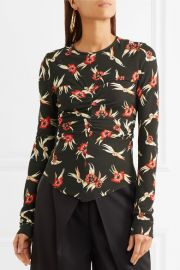 Domino ruched floral-print stretch-crepe top by Isabel Marant at Net A Porter