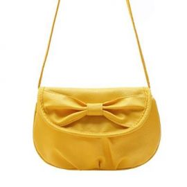 Donalworld Women Bow Mini Candy Coin Bag Phone Bag Manmade Leather Shoulder Bag Yellow Handbags Amazoncom at Amazon