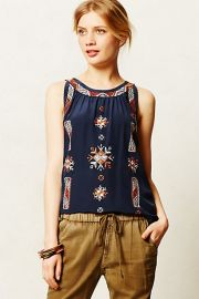 Donka Stitched Tank at Anthropologie